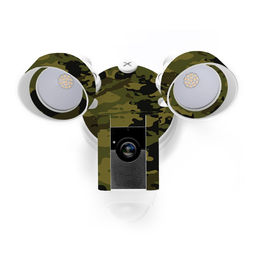 MightySkins Skin for Ring Floodlight Cam - Green Camouflage Protective, Durable, and Unique Vinyl Decal wrap Cover | Easy to Apply, Remove, and Change Styles | Made in The USA