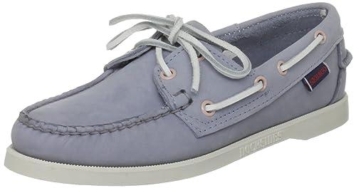 Sebago Docksides - mocasines y zapatos sin cordones de cuero mujer, Azul (backbay blue), 36: Amazon.es: Zapatos y complementos