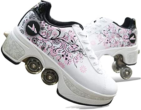Pinkskattings@ Zapatos Deportivos Zapatos Multiusos 2 En 1 Casual Zapatillas Zapatos De Deformación Multifuncionales para Regalo Unisex para Principiante: Amazon.es: Deportes y aire libre
