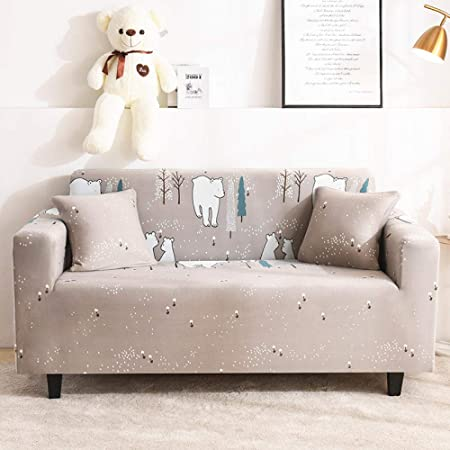 UTDFEOPSG Couch Covers 4 seater,All wraped Sofa Cover