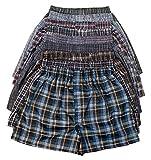 ToBeInStyle Boys' Pack of 6 Tartan Patterned Boxer Shorts - Medium