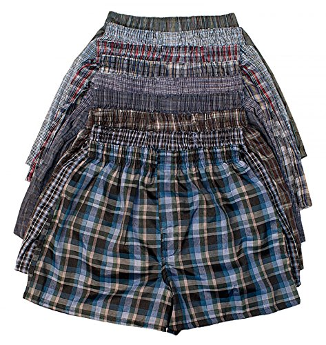 ToBeInStyle Boys' Pack of 6 Tartan Patterned Boxer Shorts - Medium by ToBeInStyle