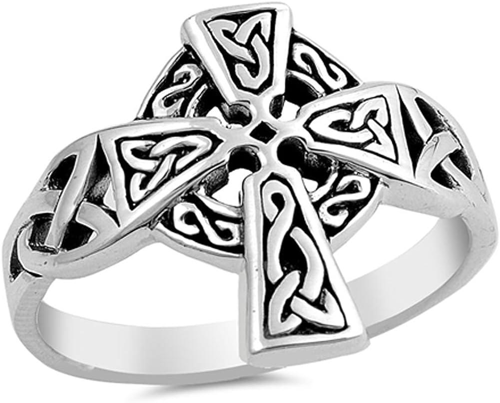 Silver ring Celtic sterling heart knotwork vintage size N US 6.5
