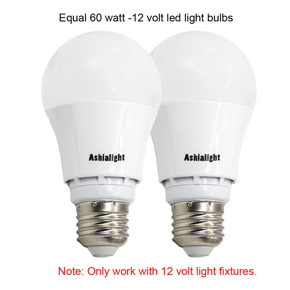 Ashialight 12 Volt Led Bulb Rv Light E26 Standard Base Warm White 60 Watt Replacement Incandescent For Camper Marine Off Grid And Solar