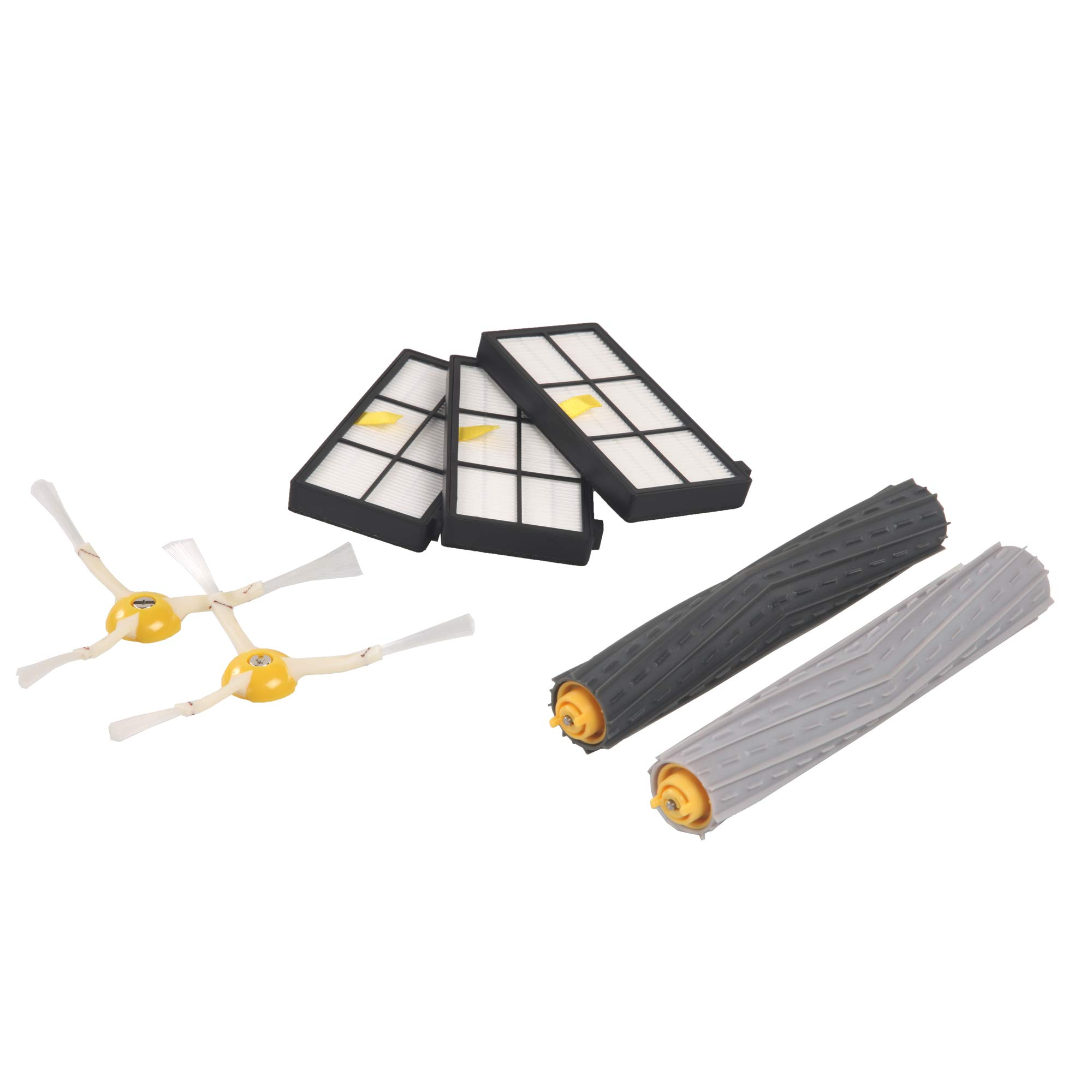 iRobot Authentic Replacement Parts-  Roomba 800 and 900 Series Replenishment Kit (3 AeroForce Filters, 2 Spinning Side Brushes, and 1 Set of Multi-Surface Rubber Brushes) by iRobot