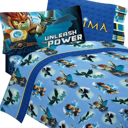 Lego Legends Chima Laval Sheet Set 4pc Full Bedding by LEGO
