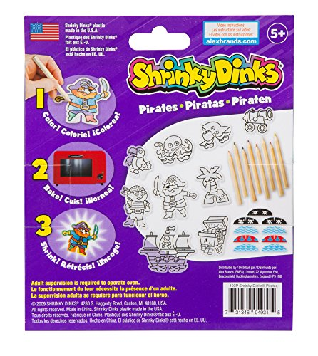 Shrinky Dinks Minis Pirates