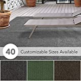 iCustomRug Affordable Indoor/Outdoor Carpet with Marine Backing, Many 12' x 10' Carpet Flooring for Patio, Porch, Deck, Boat, Basement or Garage