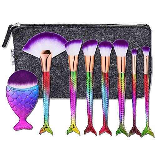 8pcs Eye Makeup Brushes Set Eyeshadow Lipstick Powder Brush Tool (Black) - 4