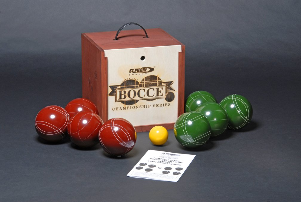 St. Pierre Tournament Bocce Set in Wood Box