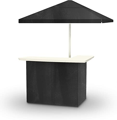 Best of Times CHALK BOARD Portable Bar and 8 ft Tall Square Umbrella