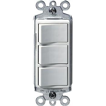 leviton 1755 i 15 amp 120 volt decora single pole ac combination rh amazon com