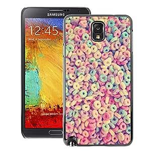 Supergiant (Breakfast Cereal Loops Colorful Pattern) Impreso colorido protector duro espalda Funda piel de Shell para Samsung Note 3 N9000
