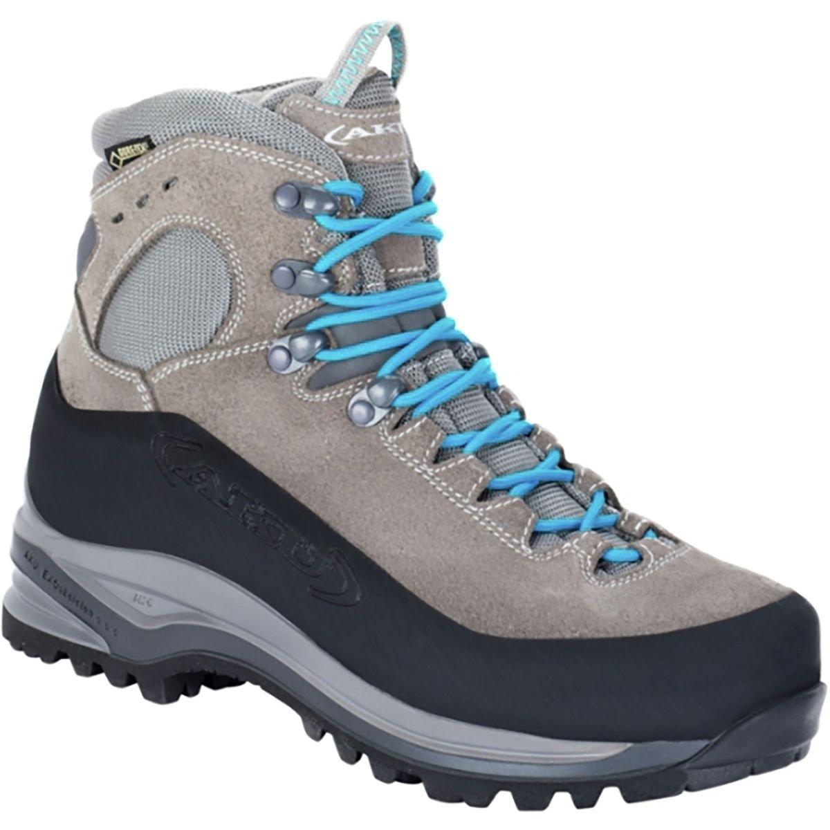 AKU Superalp GTX Backpacking Boot - Women's Light Grey/Turquoise, 9.0