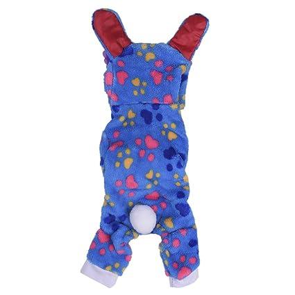 bulary cálido perro Coral Fleece Pijamas pijama perro mascota mono