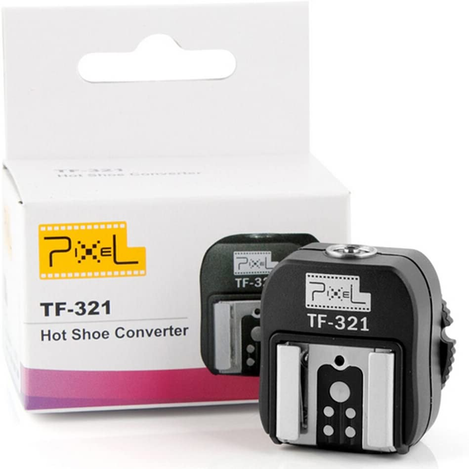 Pixel TF-334 Flash Hot Shoe Adapter for Converting Sony Mi to Canon//Nikon Flash with PC Port