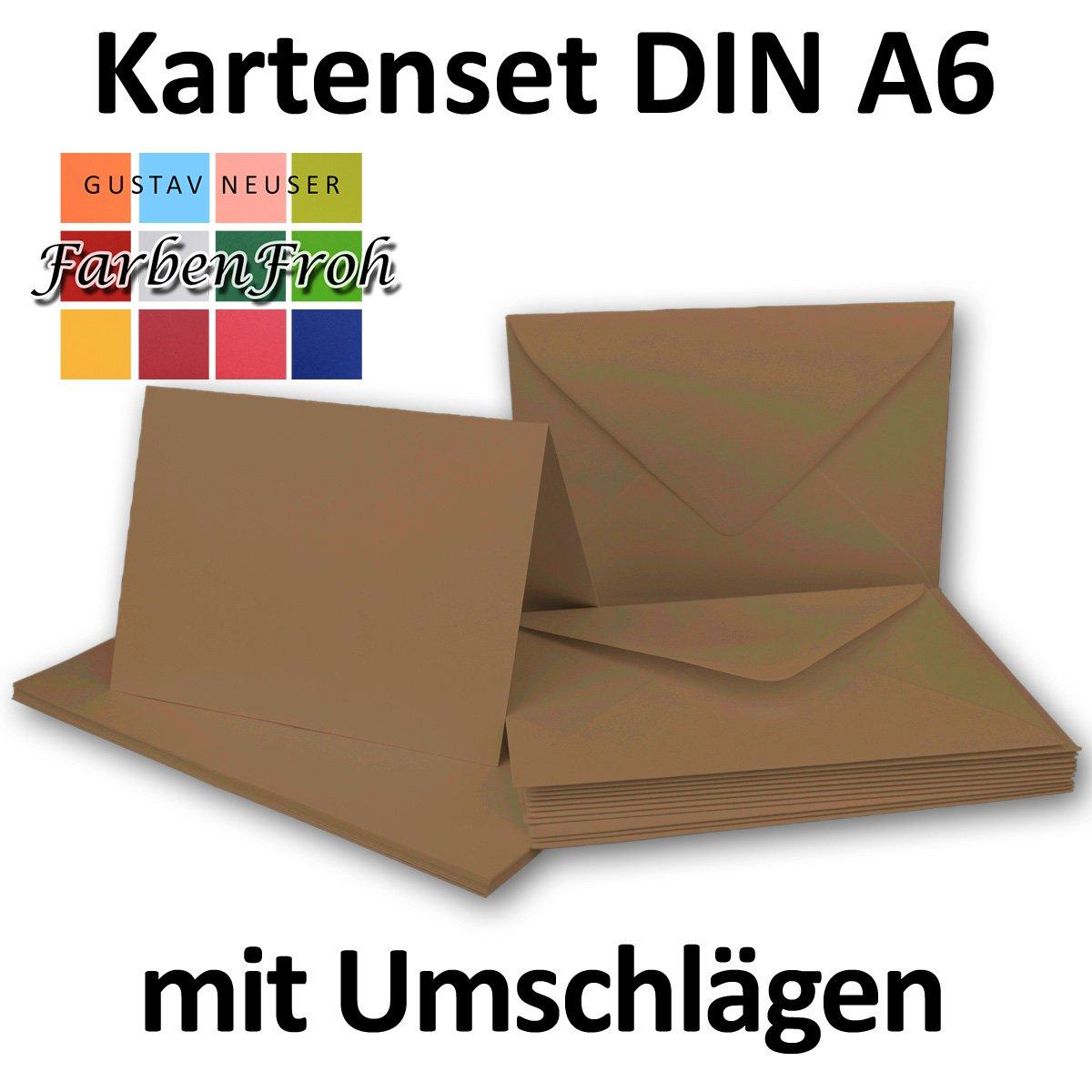 Faltkarten Set mit Brief-Umschlägen DIN A6   C6 C6 C6 in Rosanrot   100 Sets   14,8 x 10,5 cm   Premium Qualität   Serie FarbenFroh® B07B2X5DZF | Luxus  4ff025