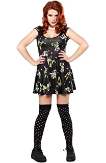 Sourpuss Women s Diamonds are Forever Skater Dress at Amazon Women s ... 8b0ea1ddf