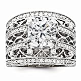 14k White Gold Semi-Mounting Diamond Engagement Ring, No Center Stone Included