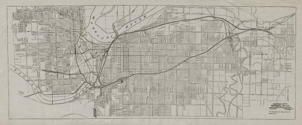 Old Kansas Map.Amazon Com Kansas City Plan Showing Terminal Railway Co Missouri