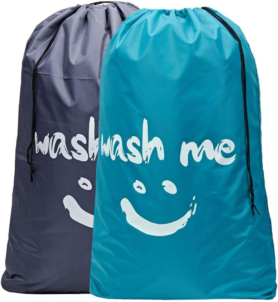 HOMEST 2 Pack XL Wash Me Laundry Bag for Travel