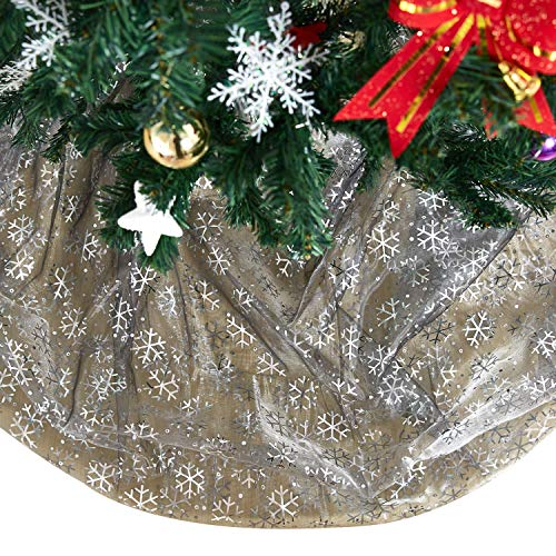Deconovo Decorative Organza Sheer Tablecloth DIY Christmas Tree