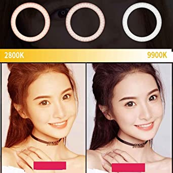 QS480DllGreen Yidoblo 18in Photo Makeup Ringlight with Stand 2800k//9990k USB Rechargeable Circular Light Studio Photographic LED Ring Light kit