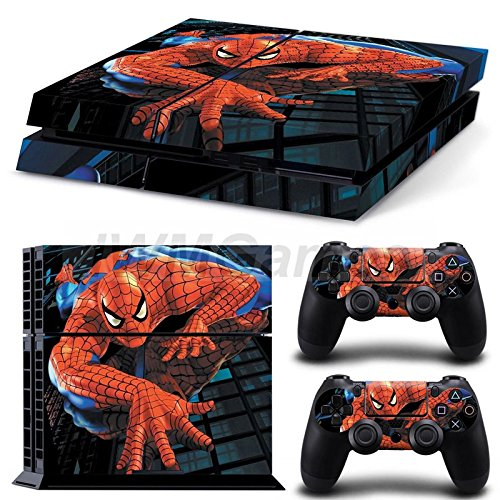 PS4 Skin - Spider-Man crawling on building