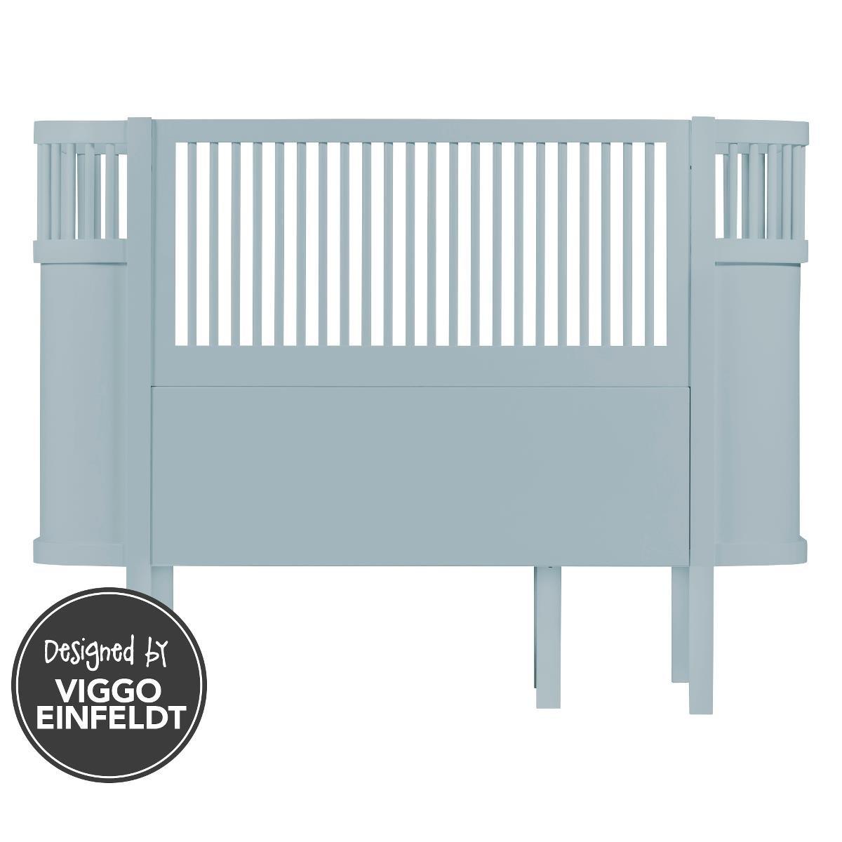 Das Sebra Bett - Baby & Juniorbett - das Bett, dass mit dem Kind wächst - wolkenblau