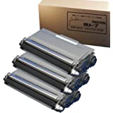 【3本セット】Brother(ブラザー) TN-56Jx3 【互換トナーカートリッジ】国産トナーパウダー(TN-53Jの増量版) 印刷枚数:1本あたり約8000枚(A4用紙に5%密度で印字した場合の参考値) 対応機種:HL-5440D HL-5450DN HL-6180DW MFC-8520DN MFC-8950DW【ヨコハマトナーJAN:4580445283047】