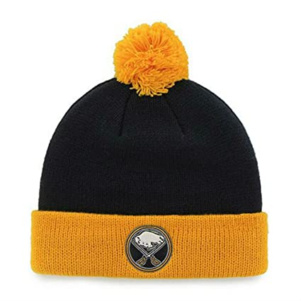 0a40a8290dd Image Unavailable. Image not available for. Color  Buffalo Sabres Youth  Size (4-7) Cuff Knit Pom Beanie ...