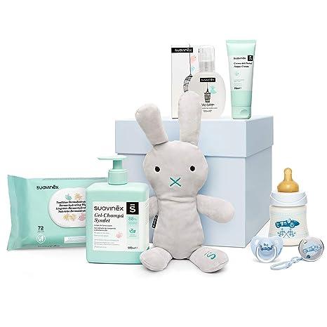 Suavinex - Canastilla para recién nacido. canastilla de regalo para bebé de 0-6 meses. incluye Baby cologne, Toallitas, Crema Pañal, Gel-champú ...