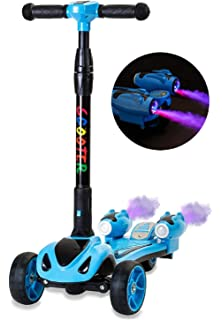 Amazon.com: Oxelo B1 - 3 Rubber Wheels Scooter for Kids (up ...
