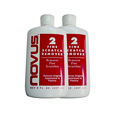 NOVUS 2 Plastic Fine Scratch Remover - 8 oz. - 2 Pack: Sports & Outdoors