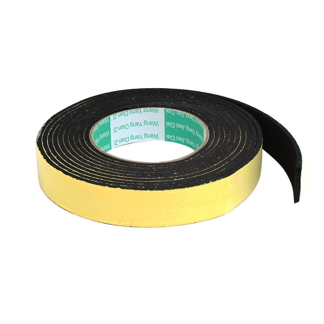 uxcell 25mmx3mm Single Sided Sponge Tape Adhesive Sticker Foam Glue Strip Sealing 4M 4336865092