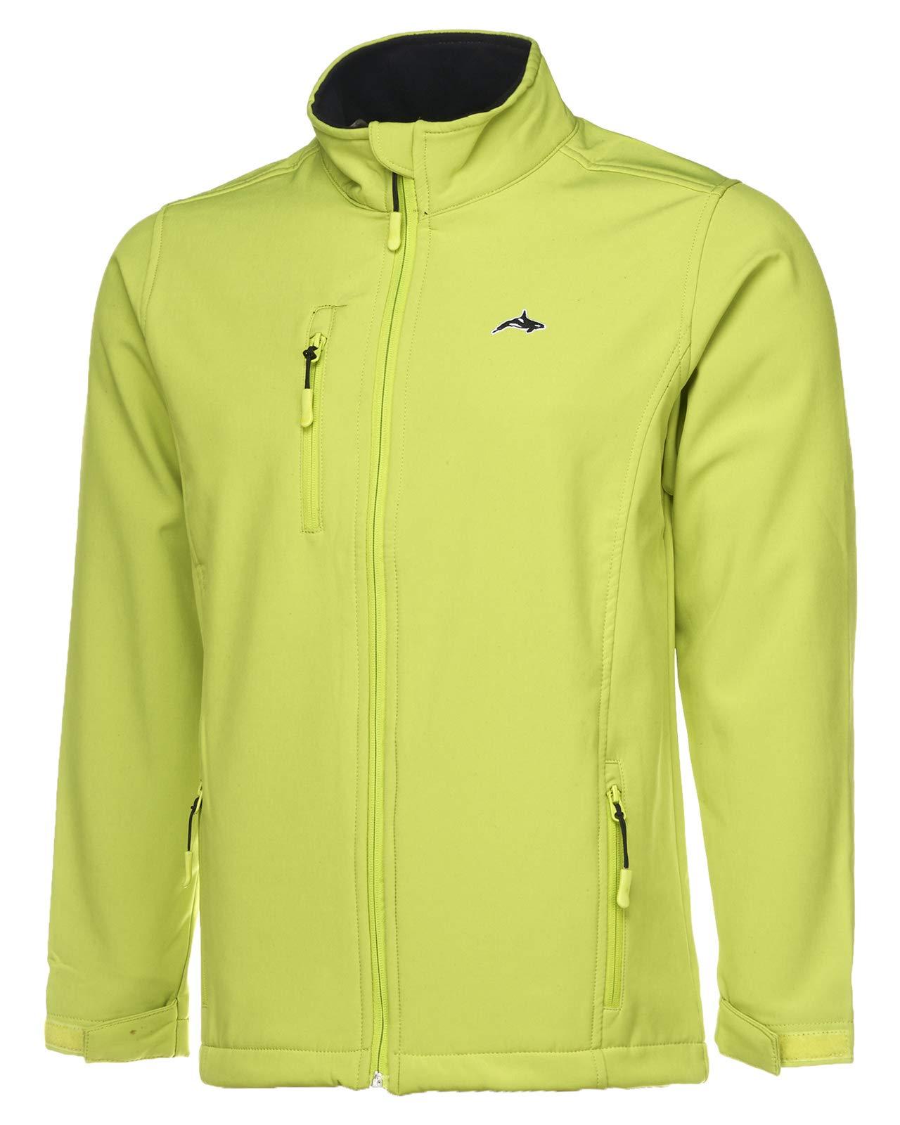 Killer Whale Softshell Fleece Jacket Mens Windproof and Waterproof