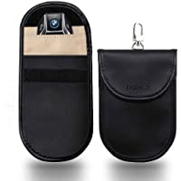 SHISHUO Car Key Signal Blocker - 2 Pack Faraday Bag WiFi/GSM/LTE/NFC/RFID/Keyless Entry Fob Signal Blocking Case Credit…