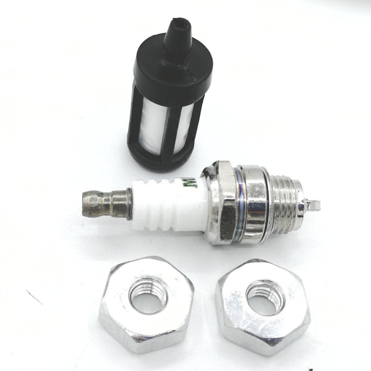 Shioshen Barre /Écrous Bougie dallumage filtre /à carburant kit pour Stihl Ms460/Ms441/Ms390 c/âble vid/éo MS250/MS230/MS210/Ms200t 017/018/021/023/025/MS170/MS180