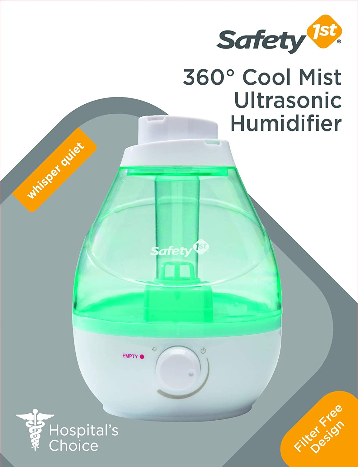 One Size Seafoam Safety 1st 360 Degree Cool Mist Ultrasonic Humidifier