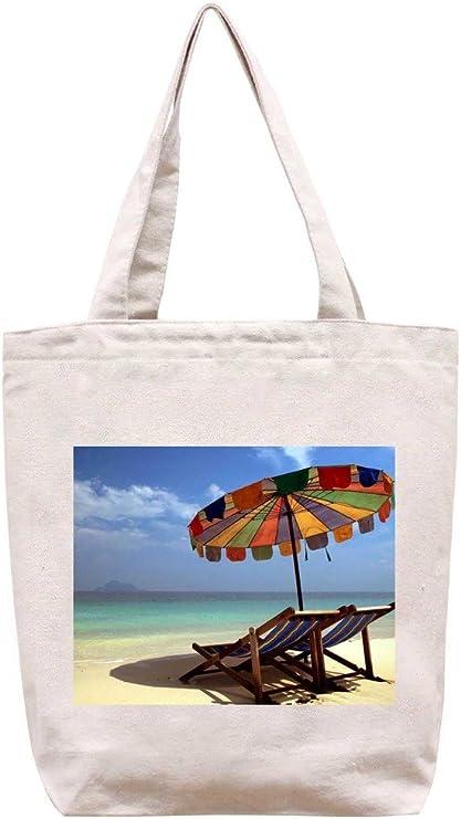 Sombrilla de Playa - Bolsa de Lona de algodón: Amazon.es: Hogar
