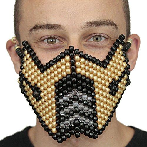 Mortal Kombat Costume Kandi Masks by Kandi Gear (gold1) -