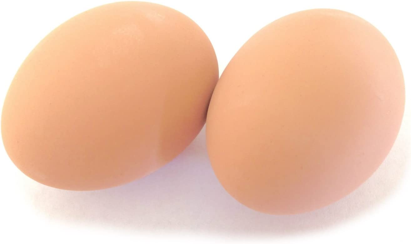 Ceramic Chicken Nesting Eggs (Brown) - Fake Training Eggs for Laying Chickens, Hen Nest Boxes & Home Decoration
