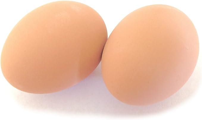WHITE CERAMIC NEST EGG FAKE DUMMY EGGS TO TRAIN YOUR HENS! 1 Dozen