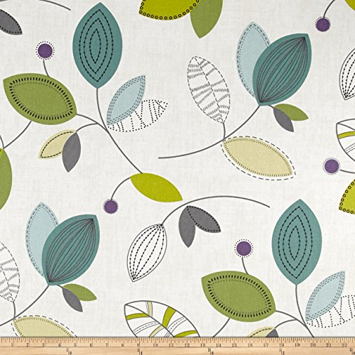 ns Calder Jewel Fabric By The Yard (Green Home Decor Fabric)