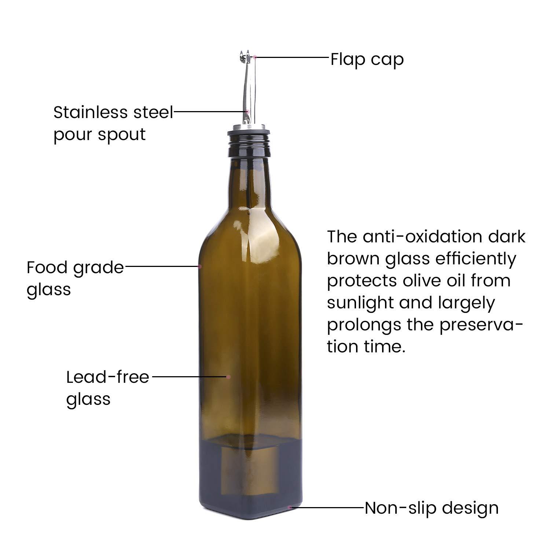 Amazon.com: Aozita – Juego de botellas de aceite de oliva de ...