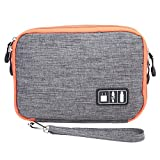 Electronics Organizer - Waterproof Double Layer Cable Storage Bag Electronic Organizer Gadget Travel Bag USB Earphone Case Digital Organizador PC876982 - Travel Toiletry Bag (L grey)