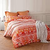 Cliab Moroccan Bedding Queen Boho Bedding Queen 100% Egyptian Cotton Sheets Duvet Cover set