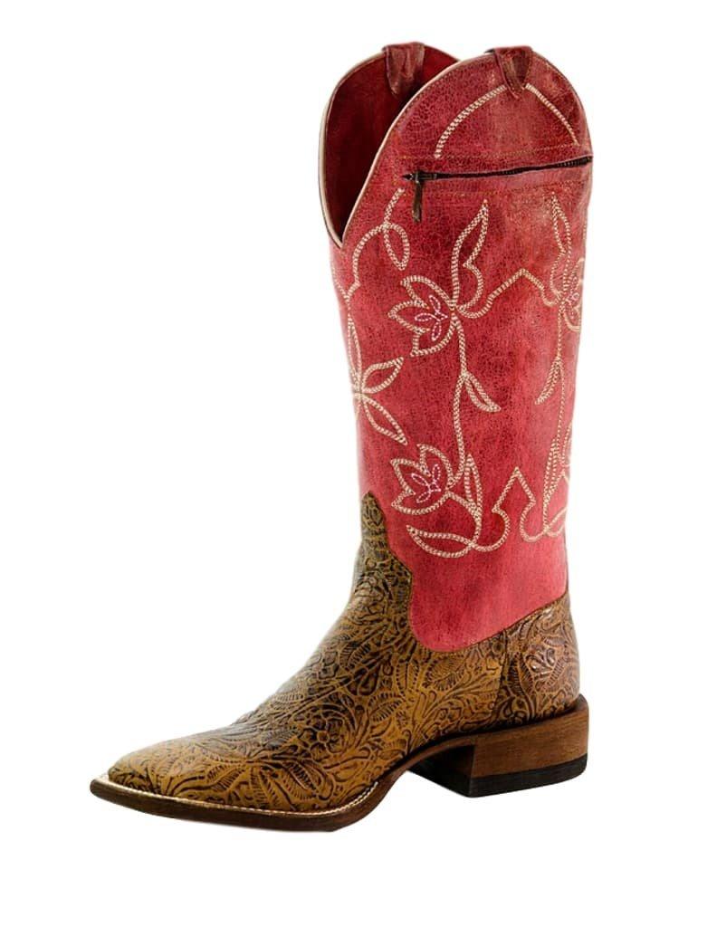 Macie Bean Western Boots Womens Love It Leave It Pocket 9 M Tan M9106
