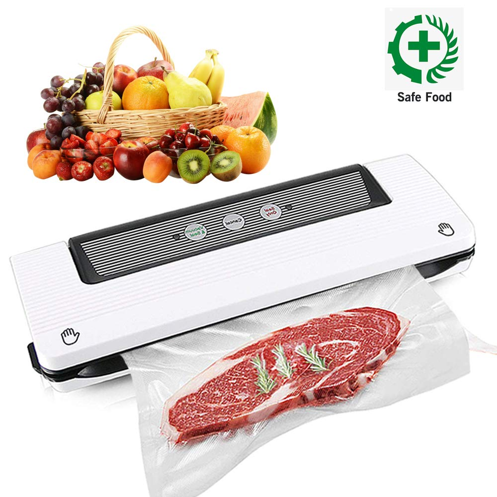 YANX Vacuum Sealer, Automatic Food Sealer Machine Vacuum Air Sealing System for Food Savers, Household Food Preservation Machine, Include Sealing Bags