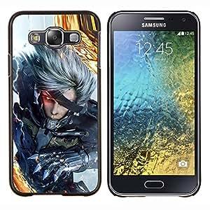EJOOY---Cubierta de la caja de protección para la piel dura ** Samsung Galaxy E5 E500 ** --Ciber Guerrero
